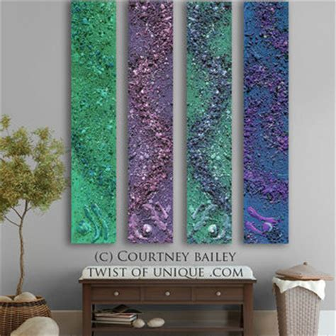mystical sky abstract painting 4 panel from twistofunique on