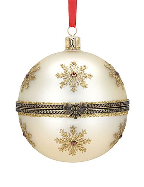 reed barton hinged nativity ball ornament 2012
