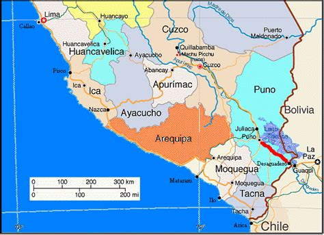 west coast map of usa south america west coast vi peru