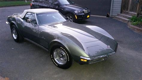 l 48 corvette 1971 corvette convertible l48 steel cities gray