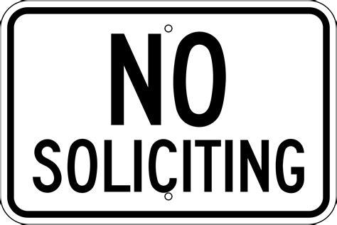Printable No Soliciting Sign