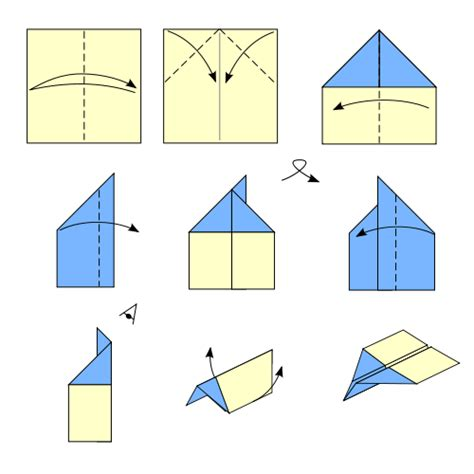 How To Make An Origami Jet - file origami airplane svg wikimedia commons