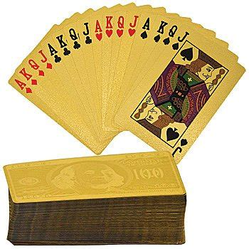 Plated Gift Card - gold plated playing cards craziest gadgets