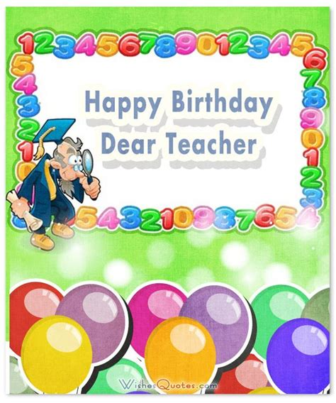 Happy Birthday Greeting Cards For Teachers 25 Best Ideas About Birthday Wishes For Teacher On