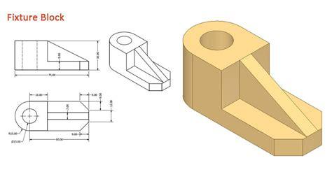 pattern 3d sketch inventor fixture block 3d cad model grabcad