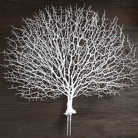 silk peacock home decor 20 quot artificial silk flowers coral branch peacock shape