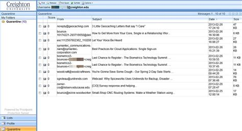 email quarantine spam proofpoint division of information technology
