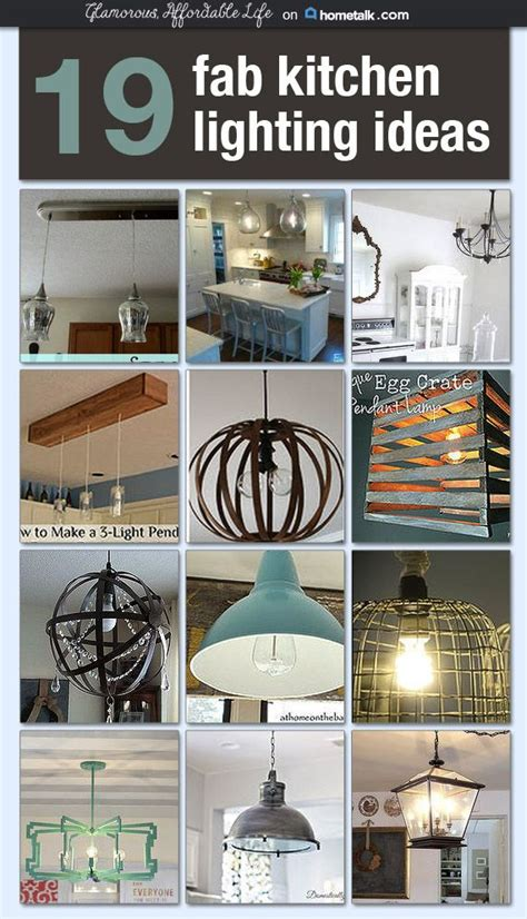 Diy Kitchen Lighting Ideas I Would For Any One Of These Diy Light Fixtures To Be In My Kitchen I M New Decorating Ideas