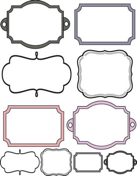 printable picture frames templates custom crops free scrapbook elements labels more