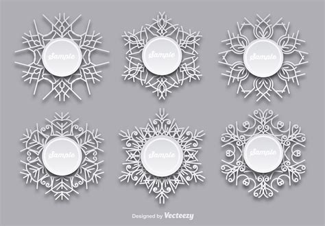 snowflakes templates   vectors clipart