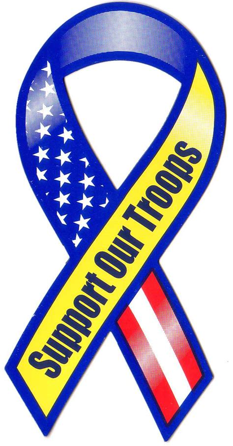 Support Our Troops Clipart yellow ribbon clip cliparts co