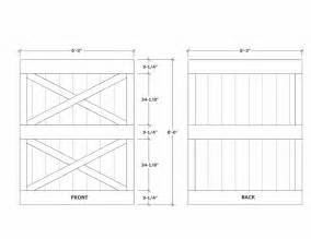 Barn Door Design Plans Barn Door Construction How To Build Sliding Barn Doors