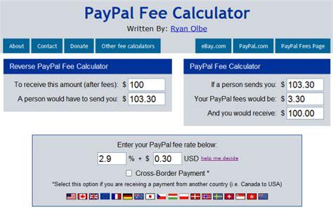 ebay paypal fee calculator ebay and paypal fees calculator instant fundas