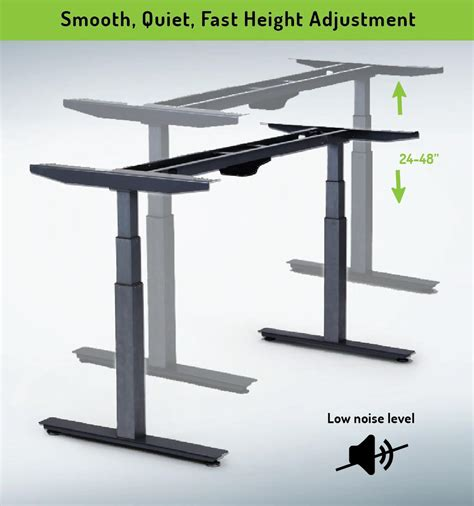 adjustable standing desk amazon amazon com rise up electric adjustable height standing