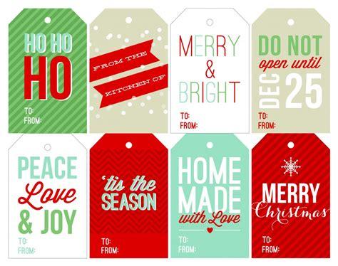 free holiday printable gift tags two peas amp their pod