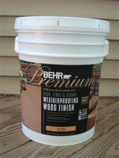 behr premium deck fence weatherproofing sealer review