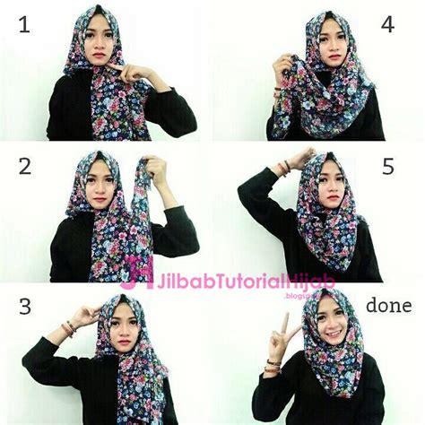 tutorial hijab pashmina simple kuliah tutorial cara memakai hijab bermotif jilbab tutorial hijab