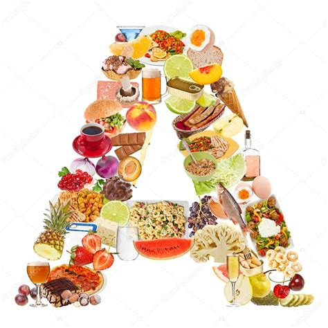 up letter with food letter a made of food stock photo 169 grafvision 12549633