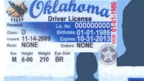 ohio id card template best photos of oklahoma drivers license template