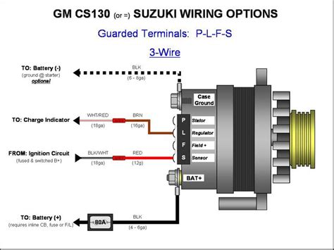 187 gm cs130 cs144 alternator wiring plfs 3 wire gm