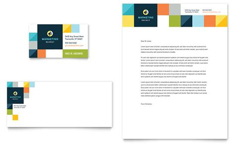 business template design advertising company business card letterhead template design
