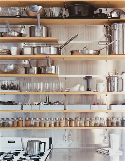 Kitchen Cabinets Shelves by Tips For Stylishly Stocking That Open Kitchen Shelving