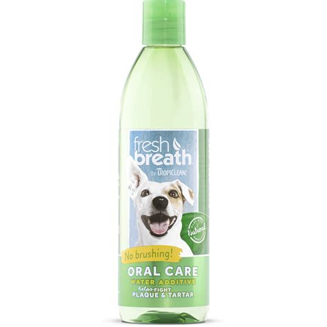 water additive for dogs tropiclean fresh breath care water additive for dogs petco