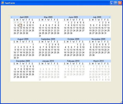 Current Calendar Year Monthly View For The Current Year Only Ultimate Ui For