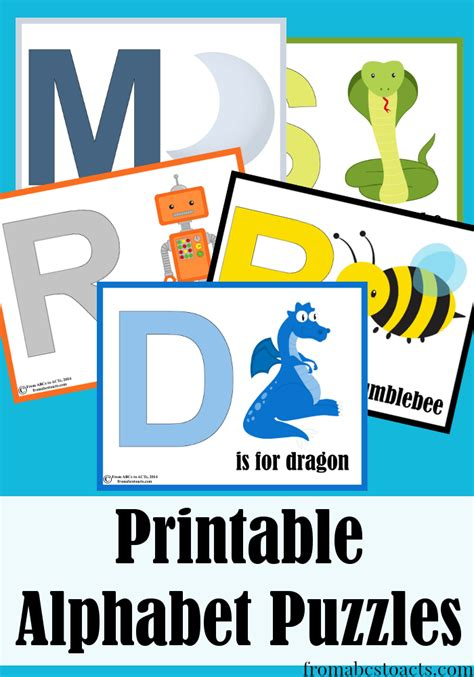 printable abc puzzle alphabet puzzles for preschoolers from abcs to acts