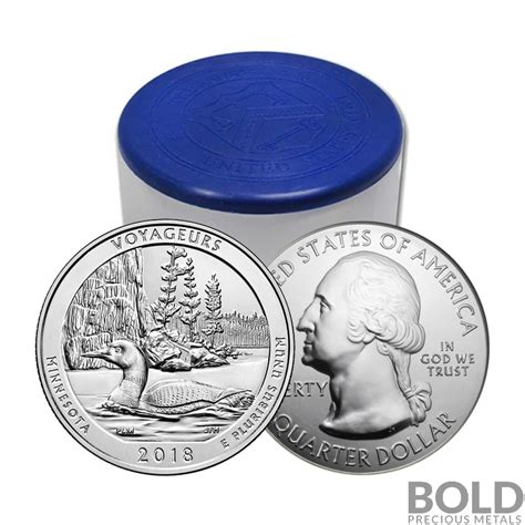 2018 silver 5 oz coin atb voyageurs np minnesota roll 10