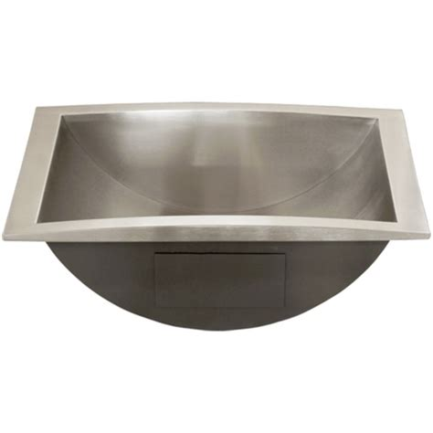 Stainless Steel Bathroom Sinks by Ticor S740 Overmount Stainless Steel Bathroom Sink