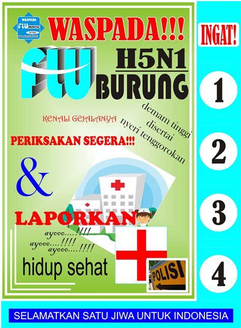 membuat poster tentang virus paguntaka city in media tarakan diklaim aman dari flu burung