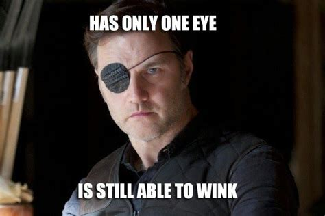Wink Face Meme - the walking dead s governor demonstrates the one eye wink