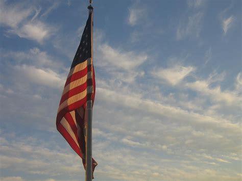 american flag draped draped american flag pole dusk casa grande arizona 2004
