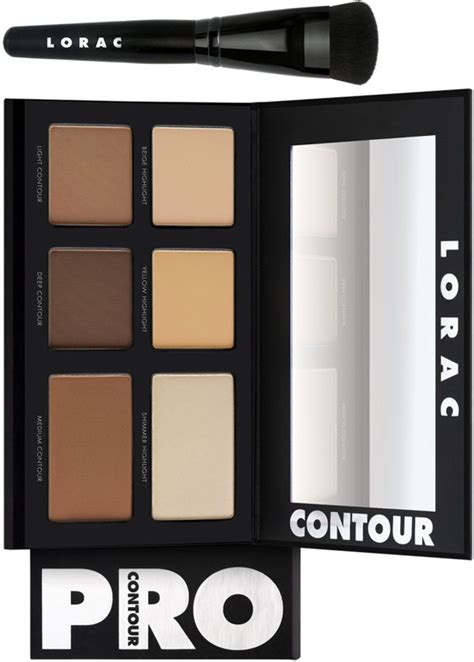 lorac pro contour palette with pro contour brush for
