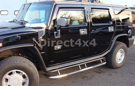 luxury side bars running boards with steps for gmc hummer