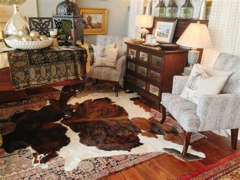 cowhide rug living room ideas faux cowhide rug brown and white for classic livingroom