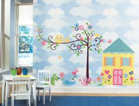 Wall Murals For Kids Playrooms kids room or playroom peel and stick owl theme room wall decals