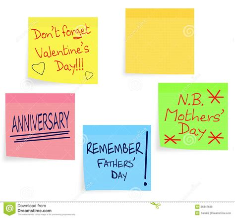 day notes reminder notes mothers day fathers d royalty