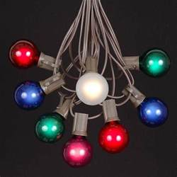 colored globe string lights multi colored g40 globe outdoor string light set on