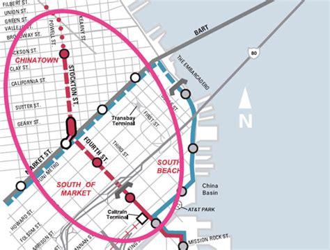 san francisco muni underground map sf civil grand jury rips central subway calls for a