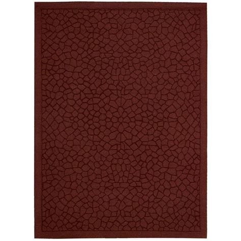 Overstock Area Rugs On Sale Nourison Overstock Barcelona Brick 3 Ft 6 In X 5 Ft 6 In Area Rug 090195 The Home Depot