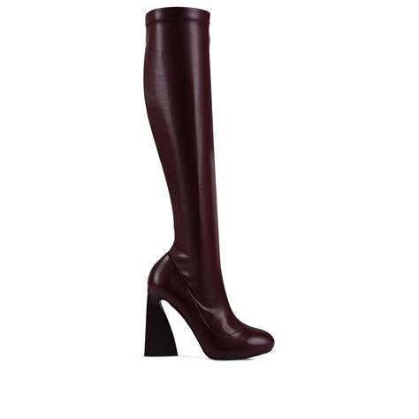 stella mccartney boots lyst stella mccartney plum moira boots in purple