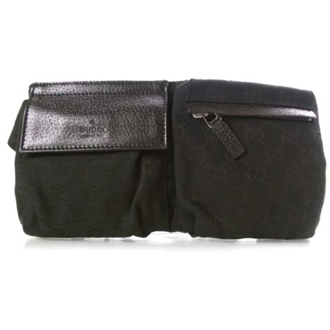 gucci monogram fanny pack belt waist bag unisex black ebay