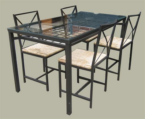metal and glass dining table and chairs uhuru furniture collectibles ikea metal glass dining