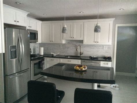 white cabinets with angola black granite counters future