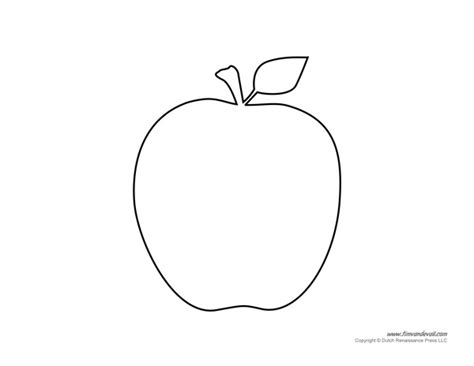 free apple templates free coloring pages of apple templates