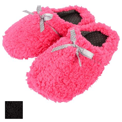 fluffy slippers cosy comfy fluffy mule slippers with polka dot