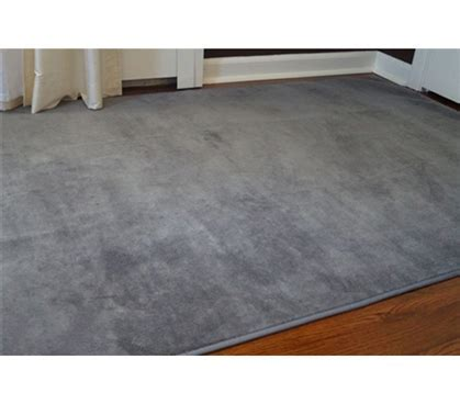 Microfiber Dorm Rug   Steele Gray Soft Floors Carpeting