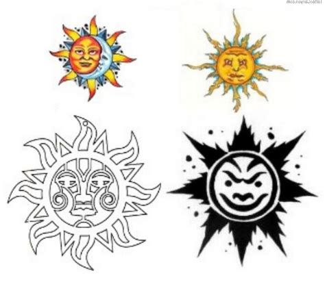 cool sun tattoo designs sun moon tattoos designs cool tattoos bonbaden